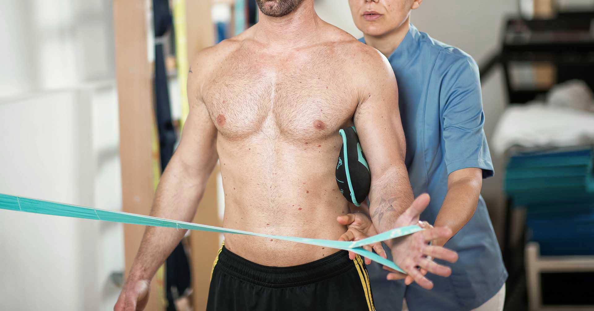 Esercizio per i muscoli extra rotatori dell'omero dolore di spalla olisty