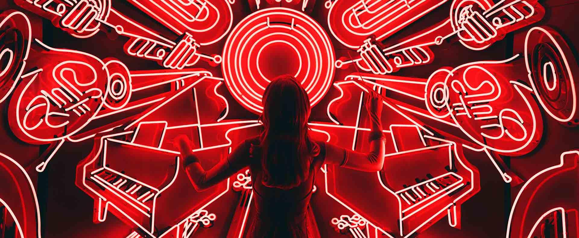 Musica Biohacking luce rossa