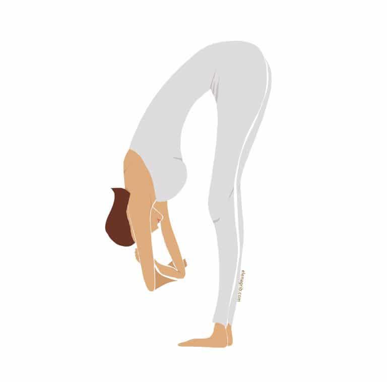 Yoga esercizio postura sesto Chakra del terzo occhio Elena Grib Art