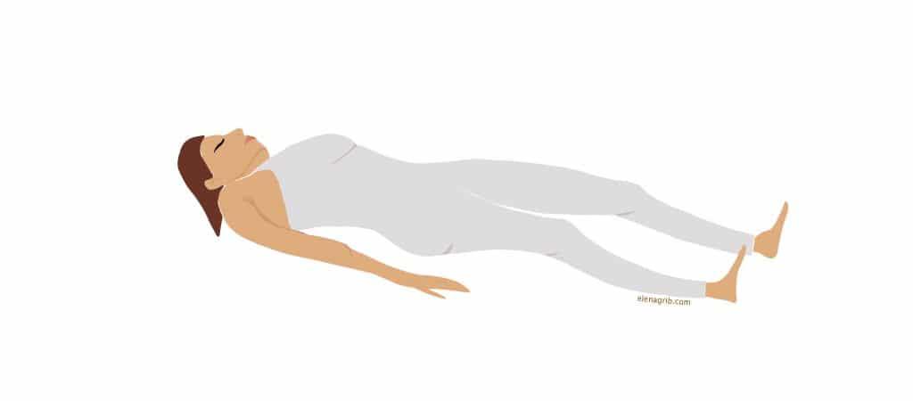 Yoga esercizio postura settimo Chakra della corona occhio Elena Grib Art