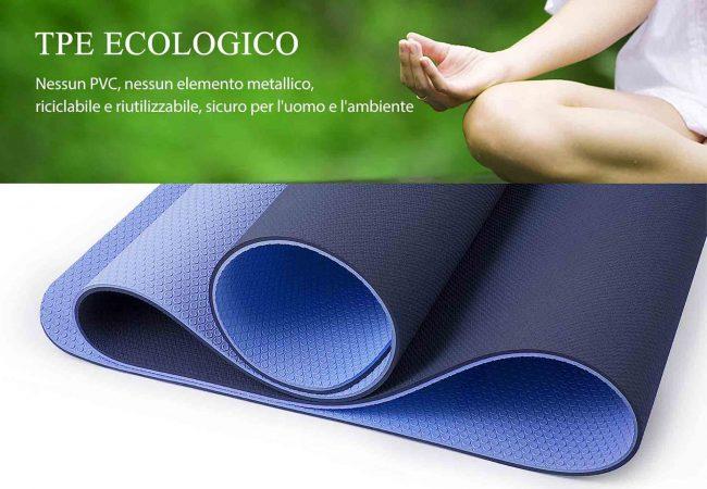 TOPLUS tappetino ecologico Yoga esercizio postura Chakra